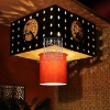 L217-87.82.10Chinese Style Dragon Fabric Pendant Lighting