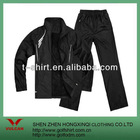 2012 100% polyester black sports coat,sports pants custom