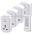 TW68C, 1v1, 1v2, 1v3, 1v4, wireless Remote Control Socket (Chinese type, plug-in)