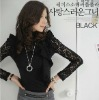 2012 Fashion Elegant Lace Turtleneck Blouse for Women