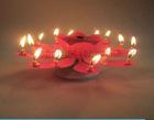 Musical rotating flower shap birthday cake fireworks