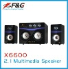2.1 multimedia speaker with 4*2030ST IC