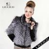 New design - Lady silver fox fur coat with Sheepskin Leather Genuine Fur Jacket #HD-79-1