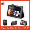 Smart Leather Case For Amazon Kindle Fire HD 7'' Tablet PC,Balck