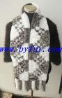 FY-WB016 New Fashion Ladies' Knitted Rabbit Fur Shawl