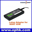 Replacement Laptop Adapter for SONY 65W 1.875A