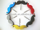 2013 novelty design mustache wine bottle opener