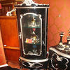 Black antique triangular cabinet NF-8015 for living room set