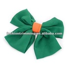 Fashion green silk fabric hair clip