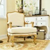 antique living room fabric chairs