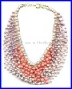 handmade fashion precious 22rows imitation stone beads necklace for wowen