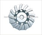 SEGMENTED TURBO DIAMOND GRINDING CUP WHEEL FOR CONCRETE