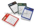 promotional plastic transparent calculator solar cell