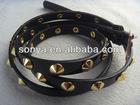 Cool studs belt for women with rhinestone/fashion belts