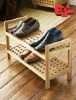 2 Tiers Wood Shoe Rack Organiser Shelf Storage
