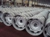 Durable agriculture tractor wheel rims,color:silver,material:steel