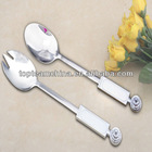 stainless steel salad set with swarovski crystal