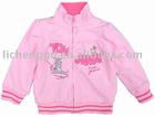 Child winter french terry zipper up cartoon coatF1269#Pink