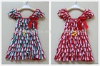 HOT fashion XMAS design baby dress