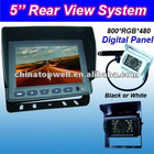 5'' Digital 800*RGB*480 Panel LCD Reversing Camera Kit