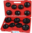 Oil Filter Cap Wrench Set 15pc