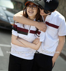 short sleeve t shirts plain cotton color focus t-shirts for men or women in autumn leisure casual sportswear style lover couple