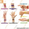 2012 new design hollow silicone wristband