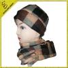 winter scotch design cap and scarf