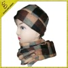 winter scotch design cap and scarf