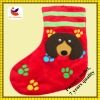 factory sales big ears dog design christmas sock