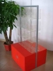 Wooden display metal stand