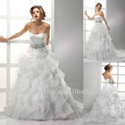 Organza Corset Sweetheart Crystal Waistband A Line Wedding Dress Bridal Gown