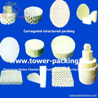 ceramic structured packing:very low pressure drop of structured packing used in cooling tower