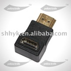 High quality 19 pin support 1080P HDMI adapter with 90 degree right angle