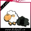 "pretty sheep soft PVC pencil topper/ 2"" soft pencil toppers"
