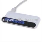 USB HUB with LCD Clock H2634S black light