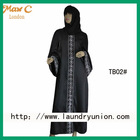 2012 New fashion design beautiful women black dubai abaya TB02#