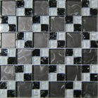 8mm crystal mosaic tile, bathroom glass mosaic tile