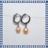 2012 8mm drop AA hoop earrings in pearl