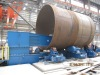 High efficient crocodile type wind tower fit-up production line