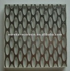 Translucent eco-resin panel with metallices