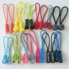 Fancy plastic pvc zipper puller