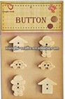 School life wooden buttons for embellishments