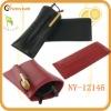 the uinque design genuine leather eyeglass holder with pen holder