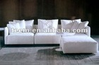 New modern soft white fabric sofa NO.1 american style living room furniture sectional sofa set(DIVANY D-12)