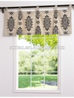 100%Polyester Printed Pleated Tab-Top Valance Printed Valance Curtain Valance