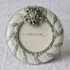 Wedding Gift - oval 3*3 photo frame with iron openwork