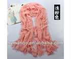 2013 Fashion Pain color infinity Silk Modal scarf charms