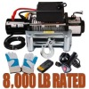 12v power winch 8000lb with CE approved