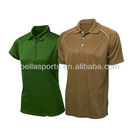 buttons placket short sleeve 100% Polyester/Cotton/Pique Set-In Sleeve Moisture Wicking Sports Polo Shirts